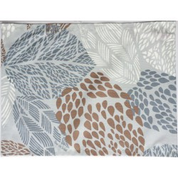 Wipe clean placemats Leaves grey/beige