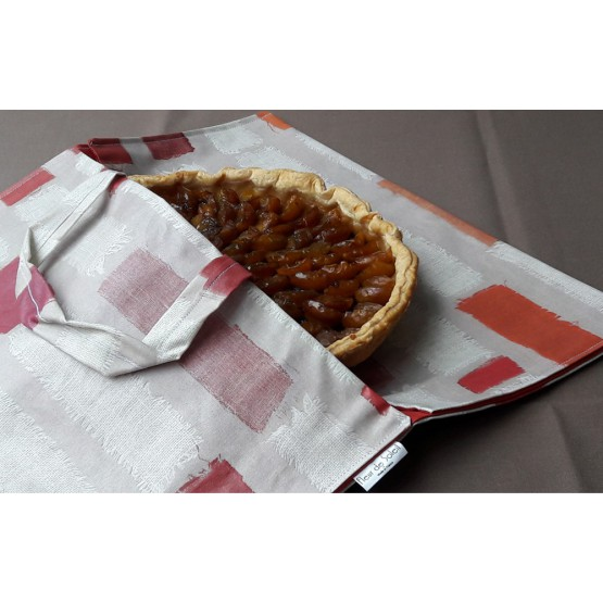 Wipe clean Pie Carrier Bag Patchwork Orange Fleur de Soleil