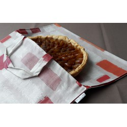 Wipe clean Pie Carrier Bag Patchwork Orange