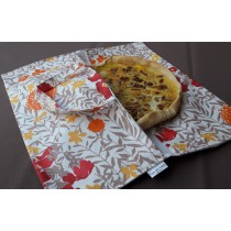 Wipe clean Pie Carrier Bag Mimose Red