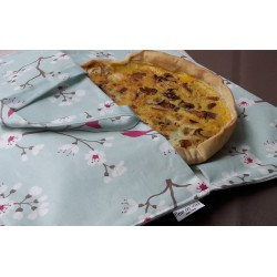 Wipe clean Pie Carrier Bag Cherry Tree Blue Fleur de Soleil