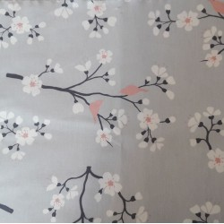 Wipe clean fabric Japanese cherry tree pink