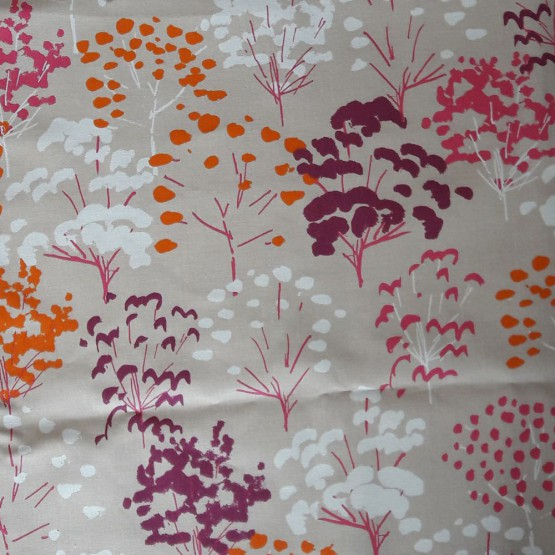 Cotton fabric Tree Pink