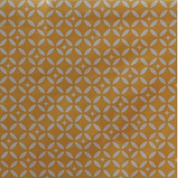 Cotton fabric Mosaic Mustard