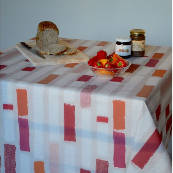 Wipe clean tablecloth Swatches Orange