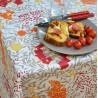 Wipe clean tablecloth Mimose Red