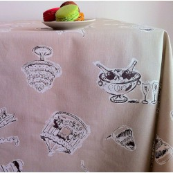 Wipe clean tablecloth Paris Taupe