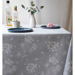 Cotton fabric Astrancia grey/white