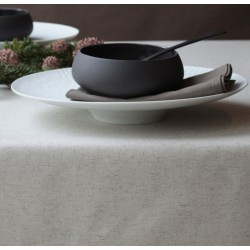 WIPEABLE TABLECLOTH PLAIN LINEN COTTON FLEUR DE SOLEIL