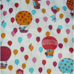 Wipe clean tablecloth Circus pink round or oval