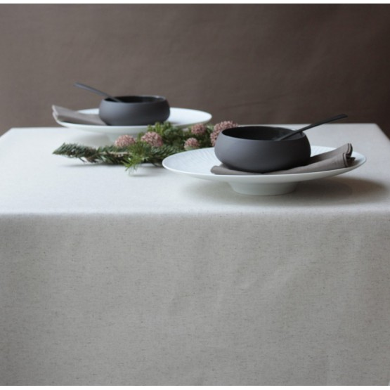 WIPE CLEAN TABLECLOTH PLAIN LINEN/COTTON