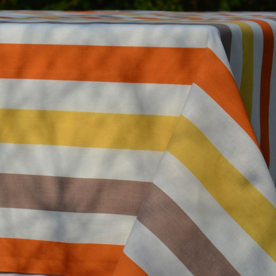 Wipe clean tablecloth multicolored Stripes