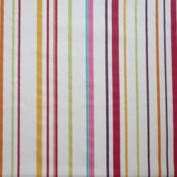 Wipe clean fabric multi color stripe