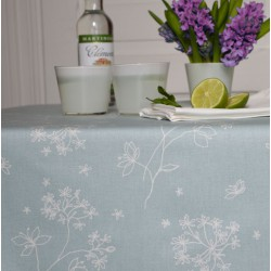 Wipe clean tablecloth Astrancia blue round or oval