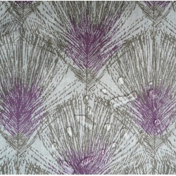 Wipe clean fabric Feathers taupe