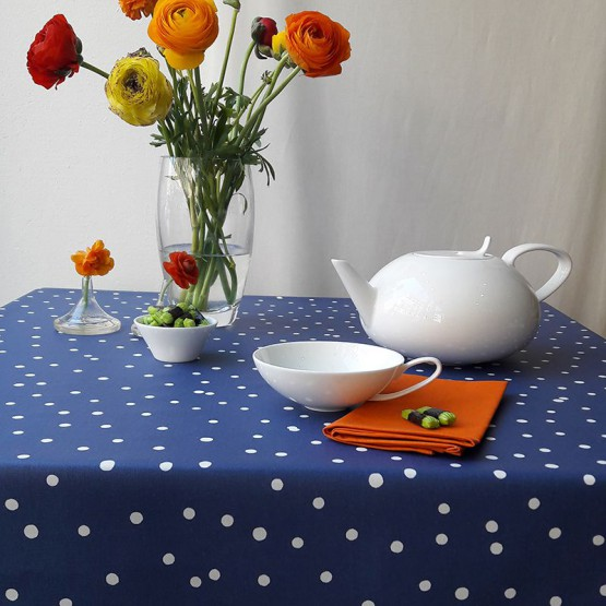 Wipe clean tablecloth Confettis blue