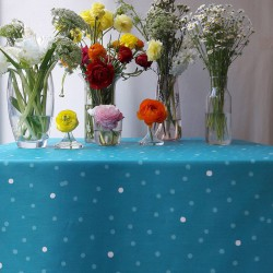 Wipe clean tablecloth Confetti Turquoise