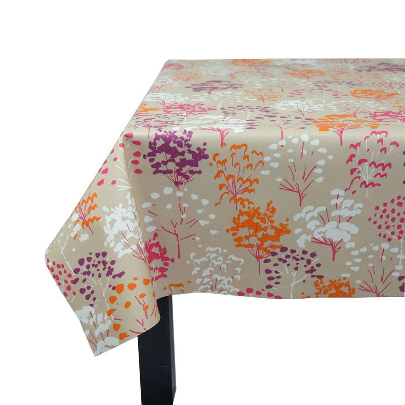 ... Wipe Clean Tablecloth Pink Tree Round Or OvalFleur De Soleil