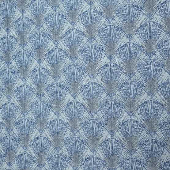 Wipe clean fabric Feathers grey/blue