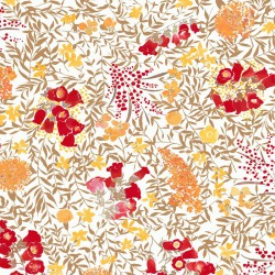 Cotton fabric Mimosa red