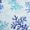 Cotton fabric Coral blue