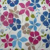 Cotton fabric Nasturtium blue/pink
