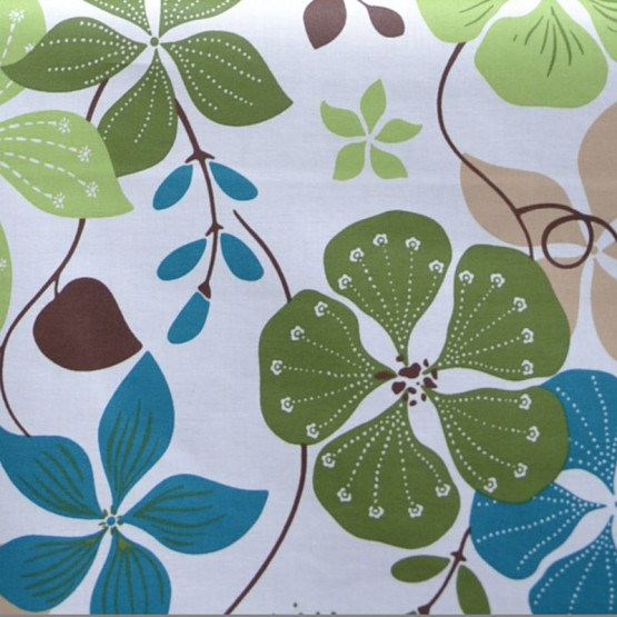 Wipe clean fabric Nasturtium green