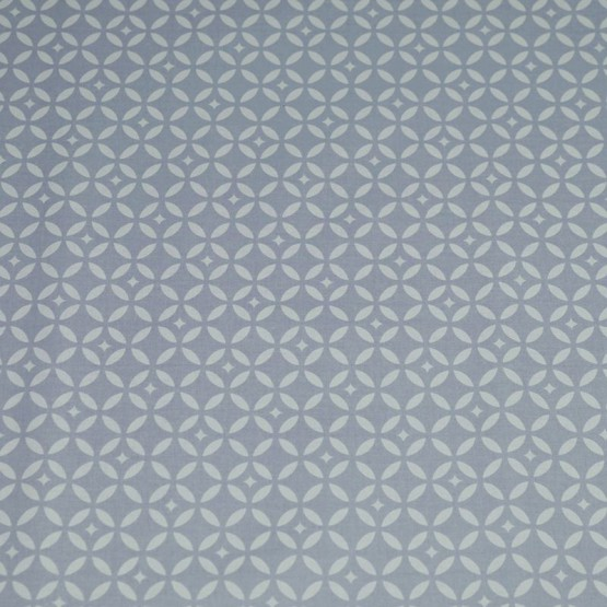Cotton fabric Mosaic Gray/white