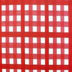 Wipe clean fabric Gingham Red