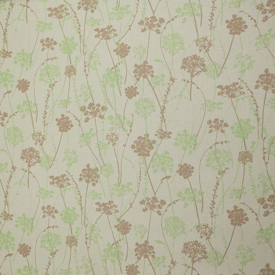 Cotton fabric Herbs Taupe Green