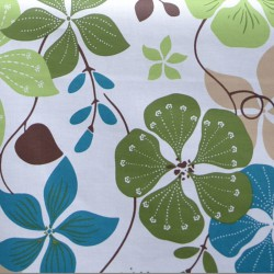 Wipe clean fabric cut Nasturtium green