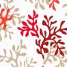 Wipe clean fabric cut Coral red