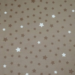 Wipe clean fabric cut Stars taupe