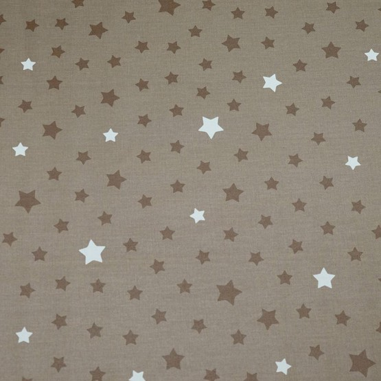 Coupon enduit 50x80cm Etoile taupe/taupe