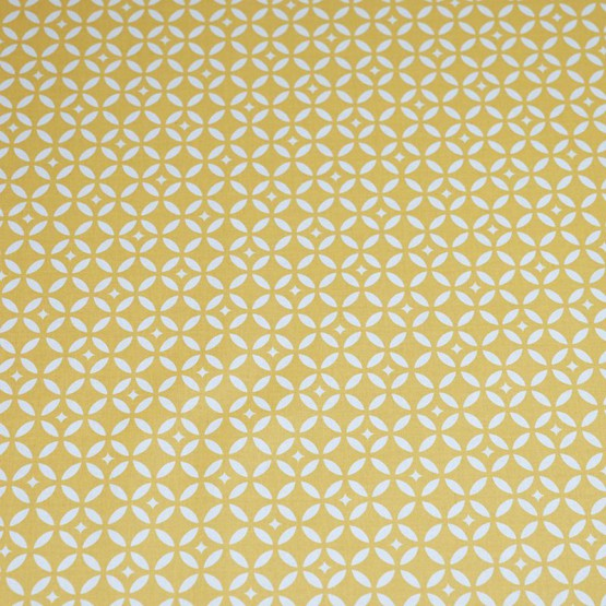 Wipe clean fabric cut Mustard Mosaic