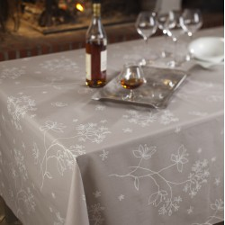 Cotton tablecloth Astrancia beige