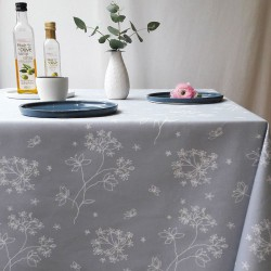 Wipe clean tablecloth Astrancia grey