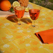 Wipe clean tablecloth Herbs yellow