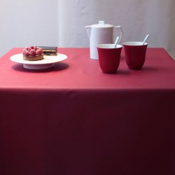 Wipe clean tablecloth Plain red