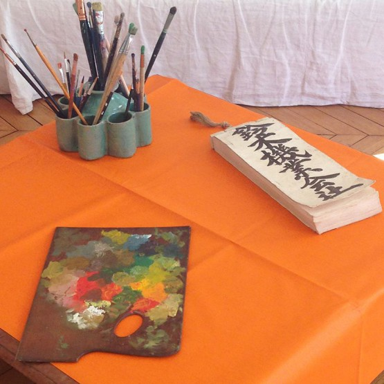 Wipe clean tablecloth Plain orange