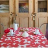 Wipe clean tablecloth Butterfly red