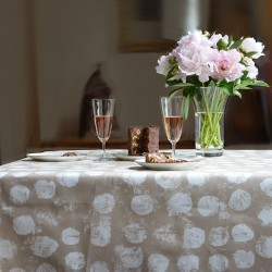 Wipe clean tablecloth Pastille taupe