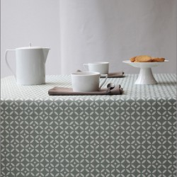 Wipe clean tablecloth Mosaic green