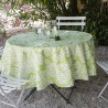 Green wipe clean tablecloth