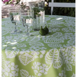 Wipe clean tablecloth Hydrangea green round or oval
