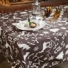 Wipe clean tablecloth Mountain brown round or oval