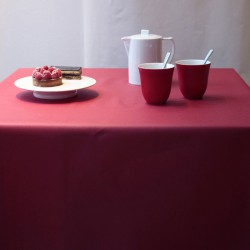 Wipe clean tablecloth Plain red round or oval