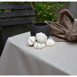 Wipe clean tablecloth Plain linen/cotton round or oval