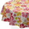 Wipe clean tablecloth Nasturtium orange round or oval