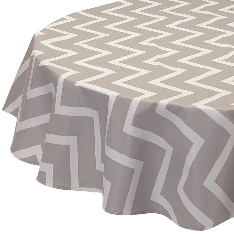 nappe enduite ronde ou ovale chevrons beige. Black Bedroom Furniture Sets. Home Design Ideas